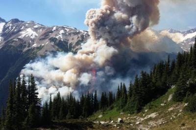 Boulder Creek BC Fires July 5 2015 2